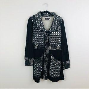 Tivoli | Black Lagenlook Cardigan Sweater